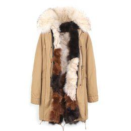 Veste crème femmes s en Ligne-mode jazzevar beige fourrure de raton laveur garniture femmes fourrure veste couleur crème glacée renard fourrure doublure