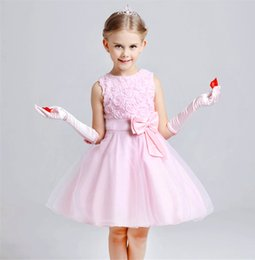 Wholesale Christmas Balls Photos - 2018 Cheap Princess Lace Flower Girls Dresses for Weddings Sleeveless Applique Vintage Girl Pageant Gowns Bow Sash Communion Dress MD01