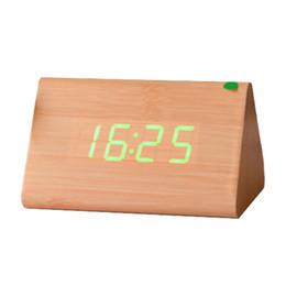 Botique e Wood alarma de control de voz LED digital reloj despertador amarillo + verde desde fabricantes