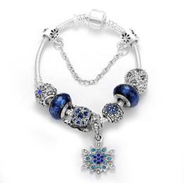 2019 giorni stellati Braccialetti d'argento 925 di Pandora per il braccialetto di fascino di San Valentino del braccialetto di fascino reale delle coppie del braccialetto di fascino del cielo blu stellato Trasporto libero