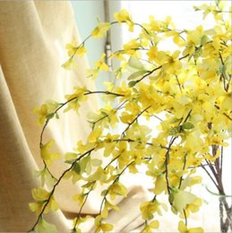 Yellow spring flowers canada best selling yellow spring flowers artificial forsythia flower branches 104cm l yellow simulation silk flowers for spring home garden yard decoration 38956 mightylinksfo