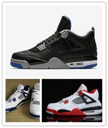 Wholesale Muscles For Sale - New 4 IV Motorsports White Game Royal Blue Black Basketball Shoes Men High Quality 2018 Cheap Sneakers For Sale Shoes