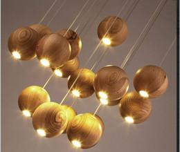 fate luce porcellana Sconti 2017 lampadario in legno massello moderno cinese giapponese nordico creativo minimalista soggiorno sala da pranzo tre lampada di legno a testa singola