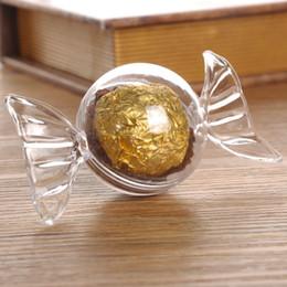 Caja de dulces bautismo favor online-24 UNIDS azúcar diseño Baby shower favor caja de dulces niños fiesta de cumpleaños favor recuerdo de la boda decoración suministro bautismo regalo