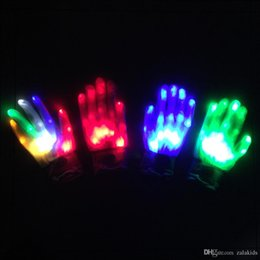magie grandes illusions Promotion LED Gants Halloween LED Cosplay Glove Lighted Toy Props Light Party Gants En Gros Halloween Éclairage Jouets