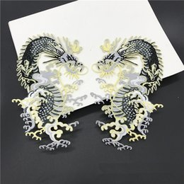 Patchs chinois en Ligne-patchs brodés à repasser motif dragon zakka accessoires appliques de patchwork Dragon chinois à construire en robe de couture