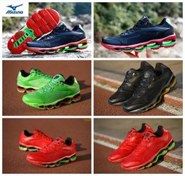 Wholesale green luxury cars - Limited edition MIZUNO WAVE PROPHECY Runner NOVA Professional Running Shoes Mens Sneakers Luxury car Sports Joggers Designer Trainers Shoes