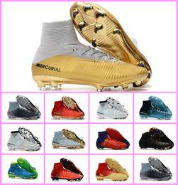 Wholesale narrow fabrics - Top Quality Kids Mercurial Superfly FG CR7 Magista Obra Soccer Shoes Cristiano Ronaldo Cleats Neymar Footbal Shoes Cheapest Soccer Boots