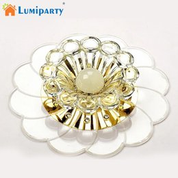 Wholesale luxurious lamp - LumiParty Luxurious Crystal Chandelier LED Ceiling Lamp Colorful 5W Flush Mount for Hallway Bedroom Kitchen Decor