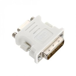 Wholesale dual dvi adapter - DVI-I Dual Link24+5 Male to HD 15 Pin VGA SVGA Adapter 88 XXM