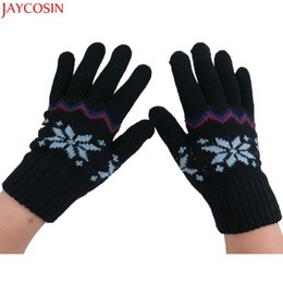 Wholesale girls fingerless gloves black - Jaycosin Girls Boys Knitted Winter Gloves Cashmere Soft Warm mittens for children Dec12