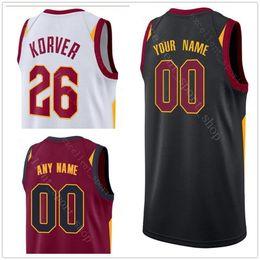 Wholesale dry printing - NCAA College Printed Basketball Jersey 26 Kyle Jose Korver Calderon Cedi Rodney Osman Hood Jeff George Green Hill Larry Okaro Nance Jr White