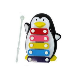 sticks musical instruments Promo Codes - Pentameter Penguin Knock Piano Steel Piano Sheet Musical Toy Baby Early Childhood Musical Instruments with Beat Stick