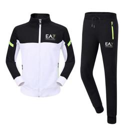 Wholesale Chiffon Long Pants - 2018 SUPER Gym sportswear athelte Running cotton men hoodies pants male pullover Jersey sales Sports jogger Workout Men's Tracksuits Set