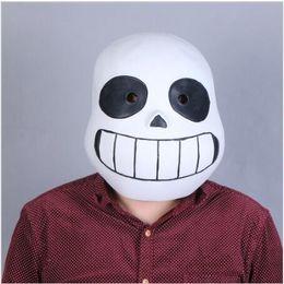 Wholesale Helmets For Halloween - Game Undertale Mask Cosplay Kids Adlut Luminous Masks Halloween Fancy Ball Sans Latex Helmet Props