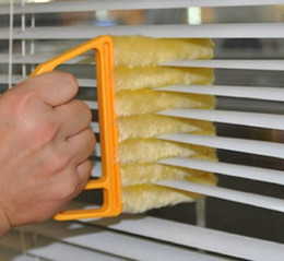 Wholesale Vertical Blinds Windows - Fashion Hot Vertical Window Blinds Brush Cleaner Mini 7 Shape Hand Held Window Brush Pinceis Novelty Households Cleaning LLFA