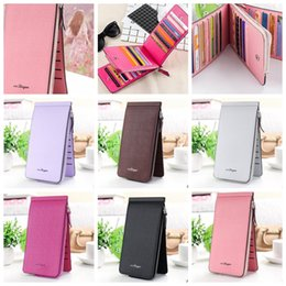 Wholesale credit card storage - card storage bag id credit holder women candy color PU leather card holder retro fashion ID Credit Card Holder Case Wallet KKA4098
