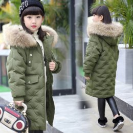 0fca9c439a4 Children down jacket coat winter thick warm boys green hooded long outerwear  for 2 3 4 5 6 7 8 9 10 11 12 13 14 years baby girl