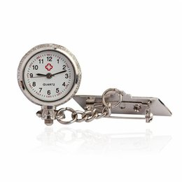 Wholesale Metal Clock Dials - Nurse Watches 1 PC Arabic Metal Fibula Stylish Medical Nursery Clocks Dress Formal Fob Dial Quartz Pocket Watch Wholesale 30M15