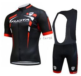 Wholesale men cycling jersey kuota - Kuota 2015 short sleeve cycling jersey bib shorts shirt set clothes jersey ropa ciclismo gel pad 3D Silicone