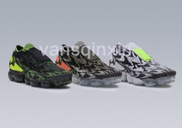 Wholesale Lace Pad - New VaporMax Moc Generation Footband Steam Atmosphere Pad Running Shoes Mens Black Red and Green Dart Jogging 2 Shoes Eur40-45 With Box