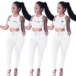 59f64c0623647 girls wearing crop tops Coupons - Women Tracksuits Crop Top Tank Pants Set  Sexy Sports Short