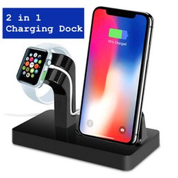 2 in 1 Ladestation Station Halterung Ladestation Halter Ladegerät für iPhone X 8 7 6S Plus Dock für Apple Watch Charge von Fabrikanten