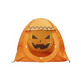 Wholesale Play Style Games - New Style Halloween Pumpkin Tent Safe Indoor Outdoor Baby Kids Play Game Tent Hot Ball Pit Pool Child With Balls