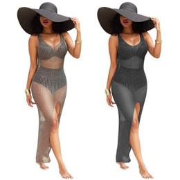 Halfter kleid badeanzug online-Höhlen-heraus Frauen-Badeanzug-Vertuschungen Reizvolle Frauen-Badeanzug-Perspektive-Bikini vertuschen oben Halter-Strand-Badeanzüge Schwimmen-Abnutzung Schwimmenkleider
