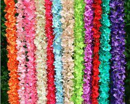 piante artificiali cinesi Sconti Vite lunga di seta artificiale di Cattelya 80 pollici o fiore di seta a 40 pollici ortensia glicine ghirlande viti Cattleya per la casa giardino matrimonio Decorati