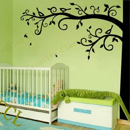 grandi decalcomanie a muro per il vivaio Sconti Corner Tree Wall Decal Nursery Wall Decoration, Extra Large Tree Sticker Foto decalcomania da appendere