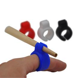 Deutschland Silikon Rauchen Zigarettenspitze / Tabak / Joint Halter Ring Für normale Größe (7-8mm) Zigaretten-Mix Farbige Raucherzubehör Versorgung
