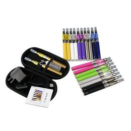 Wholesale Ego T Double Zipper Kit - Double eGo-T Electronic Cigarette Kits Zipper Case E Cigarettes 650 900 1100mAh Battery Ego CE4 vaporizer starter Kit 2269003