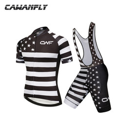 Wholesale Bike Brace - Black White Stripe Ropa Ciclismo Verano 2018 Cycling Jersey Set Bib Shorts Braces Summer Cycling Clothing Outdoor MTB Bike Clothes