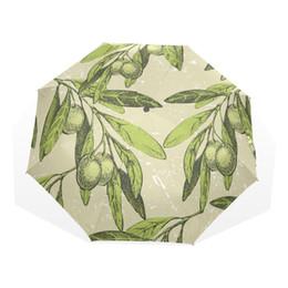 Canada Olivier pliant parapluie unisexe école de banlieue Rainny enfants parapluie entièrement automatique femmes ultra-léger Rain Gear comme cadeau Offre