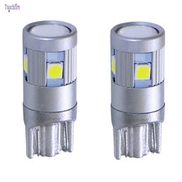 Wholesale toyota canbus - 4XT10 3030SMD 5 LED Car Bulb Canbus Signal External Clearance Auto light dropshipping for Skoda Lada Clio Ford Peugeot 208 Toyota