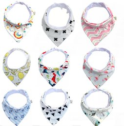 free baby packs NZ - 2018 New Hand Made Baby Waterproof Triangle Towel, Pure Cotton Double Deck Triangular Scarf, Baby Buckle 8-Pack