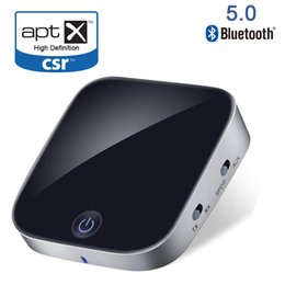 2.1 stereo Promo Codes - Bluetooth V5.0 CSR Transmitter & Receiver 2 in 1 Wireless Stereo Audio Adapter with Optical Toslink   SPDIF & Aux 3.5mm Support aptx APT-