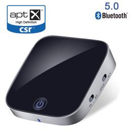 stereo ottico Sconti Bluetooth V5.0 CSR Trasmettitore Ricevitore 2 in 1 Adattatore audio stereo wireless con ottica Toslink / SPDIF Aux 3.5mm Supporto aptx APT-