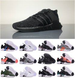 Wholesale chocolate packing - Top 2018 EQT 93 17 ultra shoe Support Future black white pink Coat of Arms Pack Men women turbo red casual sports Sneakerer