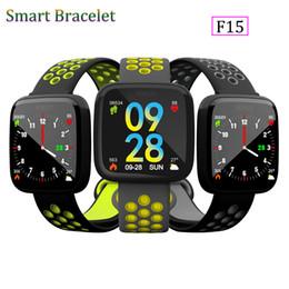 часы Скидка Новая мода F15 смарт браслет Смотреть Band фитнес-трекер артериального давления монитор сердечного ритма термометр шагомер браслет для Android IOS