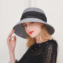 Tapa del domo Señora de paja de ala del sombrero femenino de la moda Color Mixta hierba fina Sombrero de la sombrilla plegable Sombreros Señora del capo de la sombrilla Caps B8978 desde fabricantes