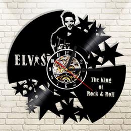 большие желтые часы Скидка diy подарок для 1 стук Элвис винил LP запись Wandklok де Конинг Ван Рок-Ролл старинные камер Муур декор искусство часы Unieke подарок