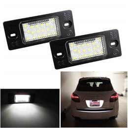 2 pz 18 LED Numero Targa LED Luce Lampada Per Porsche Cayenne VW GOLF 5 Touareg Triple Can-bus Auto Tail fonte di illuminazione da luce blu per le piante ha condotto fornitori