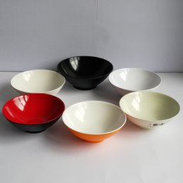 Wholesale Noodle Bowl Soup - Melamine Dinnerware Noodle Bowl Cone Ring Striae Bowl WIth Chain Restaurant A5 Melamine Bowls Melamine Tableware Soup Bowl