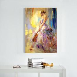 2019 figura de la señora Pinturas al óleo 100% pintadas a mano en la lona Beautiful Lady Art Pictures para la decoración de la sala de estar figura de la señora baratos