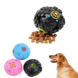 Wholesale Dog Tooth Ball - Trumpet Sound Leakage Food Ball Dog Toy Pet Shrieking Ball Puzzle Resistant Teeth Bite Chew Tool OOA4202