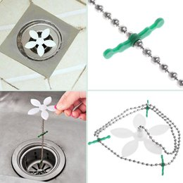 Wholesale Kitchen Drain Stopper - Shower Drain Hair Catcher Stopper Clog Sink Strainer Bathroom Accessories Sewer Drain Cleaning Filter Strap Pipe Hook
