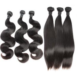 Extensions de cheveux incroyables en Ligne-Brésilienne Vague de Corps Vierge Remy Tissage de Cheveux Humains Non Transformés Cheveux Raides Extensions de Cheveux Trame Incroyable Bellahair 7A