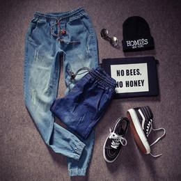 jeans coreano elástico Desconto Midweight Mountainskin Novo Estilo Coreano Calças De Brim Dos Homens Distrressed Jeans Slim Fit Denim Calças Skinny Stretch Elastic Jeans